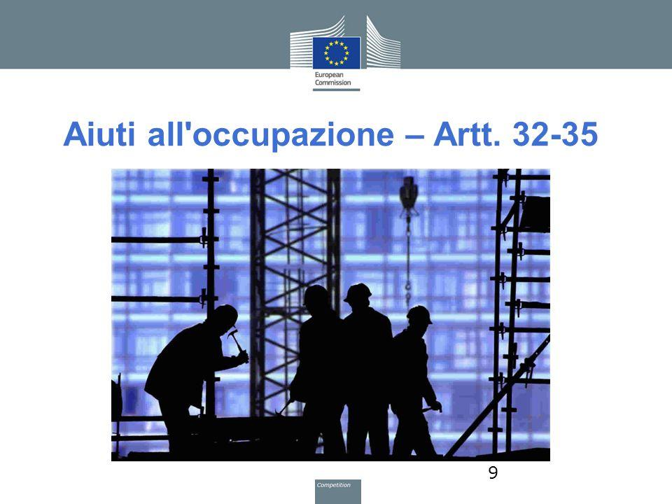 Aiuti all occupazione – Artt. 32-35