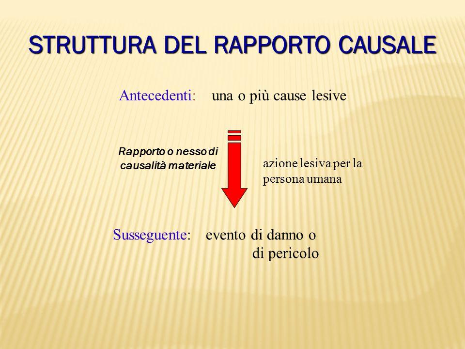 STRUTTURA DEL RAPPORTO CAUSALE