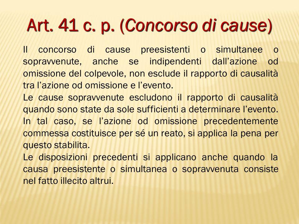 Art. 41 c. p. (Concorso di cause)