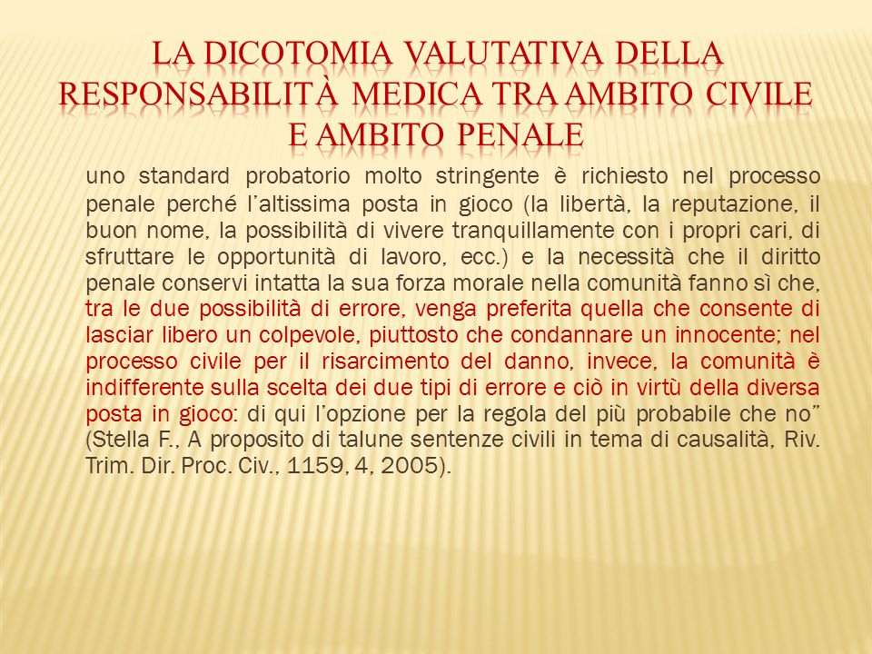 La dicotomia valutativa della responsabilità medica tra ambito civile e ambito penale