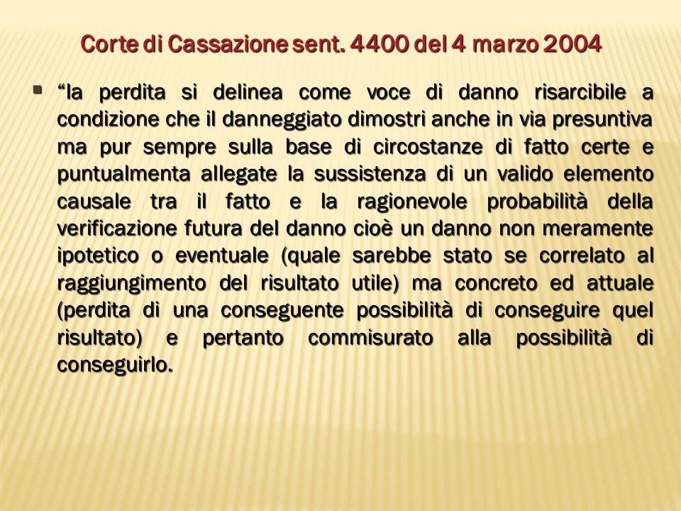 Corte di Cassazione sent. 4400 del 4 marzo 2004