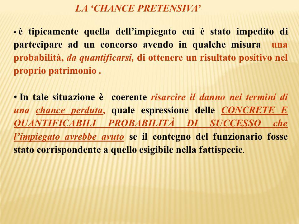 LA 'CHANCE PRETENSIVA'