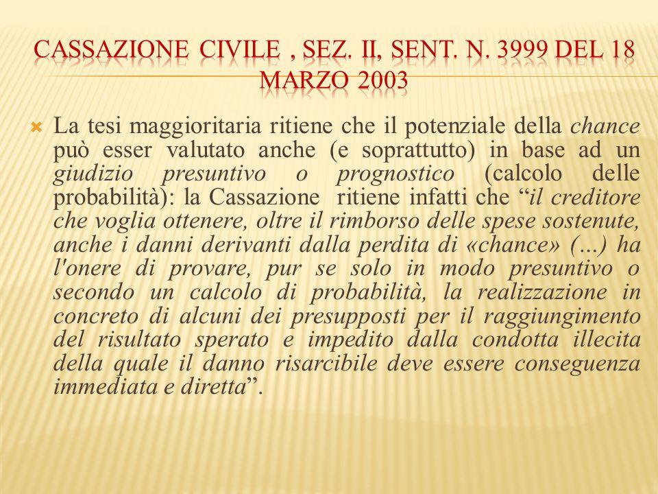Cassazione civile , sez. II, sent. n. 3999 del 18 marzo 2003