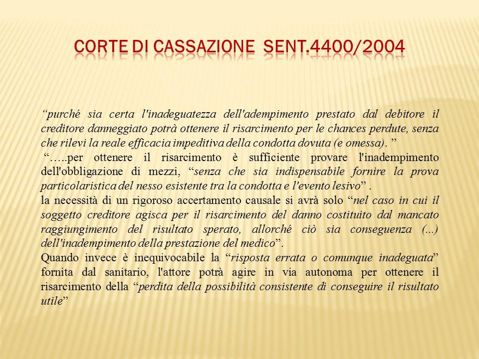 Corte di Cassazione sent.4400/2004