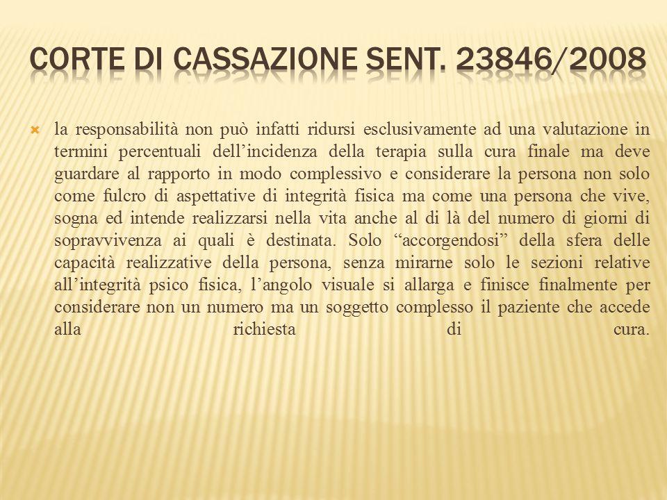 Corte di Cassazione sent. 23846/2008