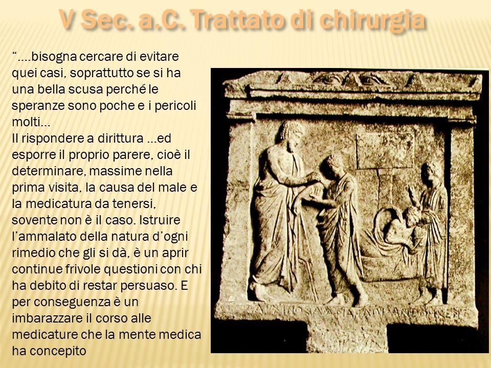 V Sec. a.C. Trattato di chirurgia