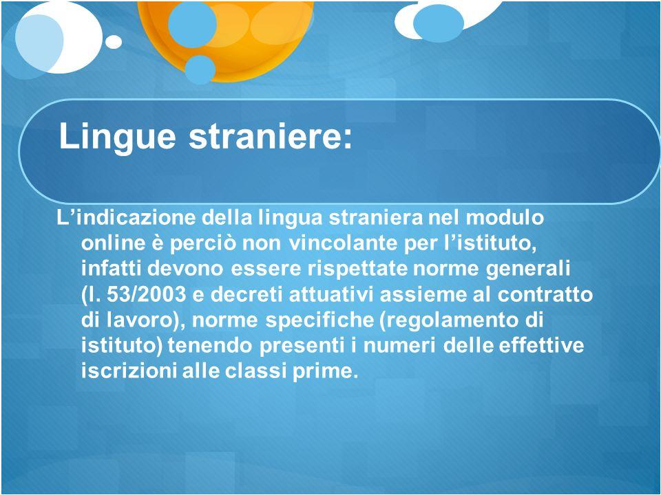 Lingue straniere: