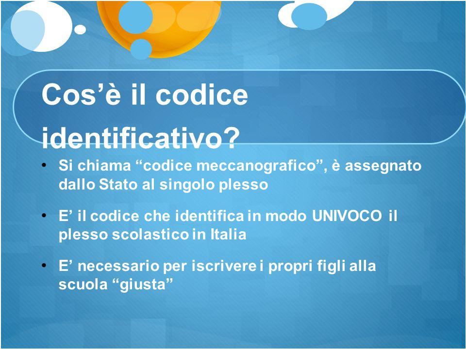Cos'è il codice identificativo
