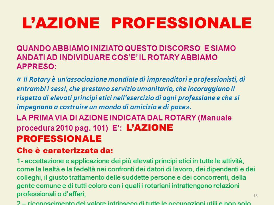 L'AZIONE PROFESSIONALE