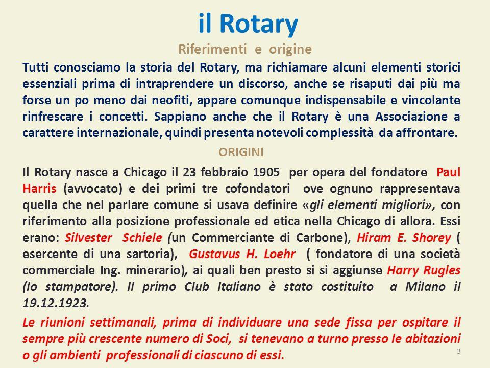 il Rotary Riferimenti e origine