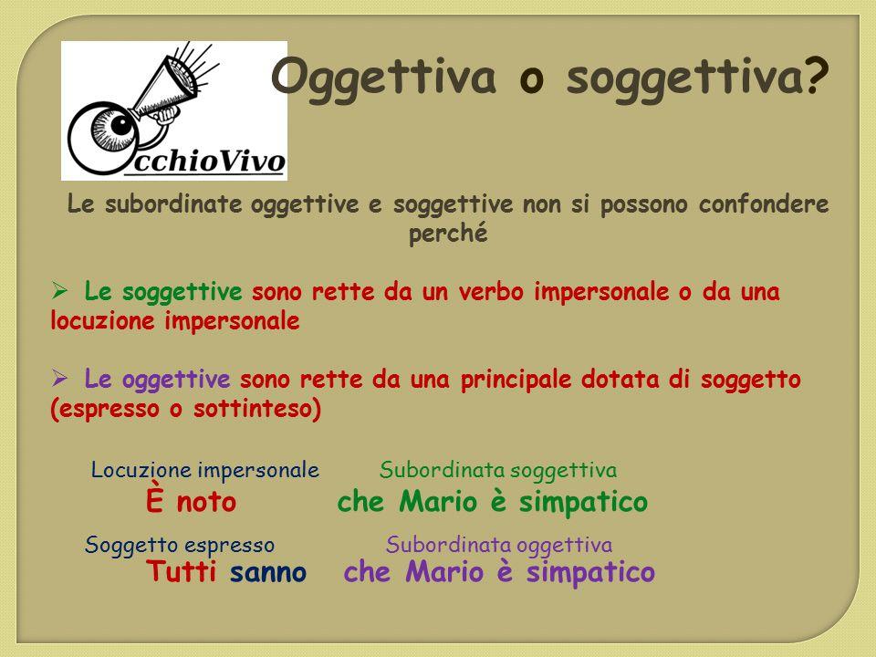Oggettiva o soggettiva