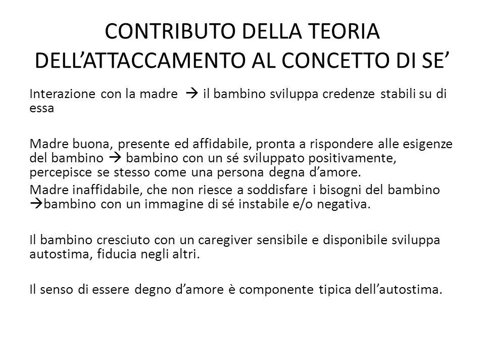 CONTRIBUTO DELLA TEORIA DELL'ATTACCAMENTO AL CONCETTO DI SE'