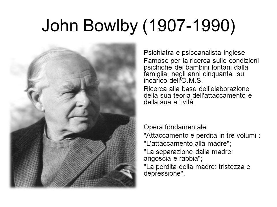 John Bowlby (1907-1990) Psichiatra e psicoanalista inglese