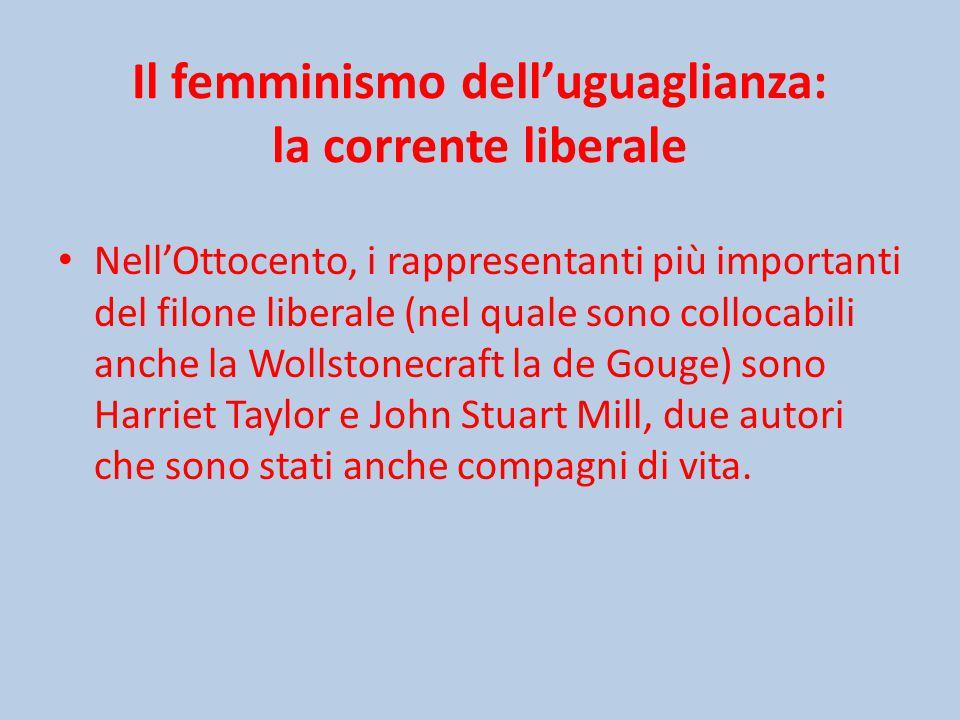 Il femminismo dell'uguaglianza: la corrente liberale