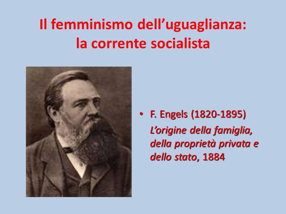 Il femminismo dell'uguaglianza: la corrente socialista