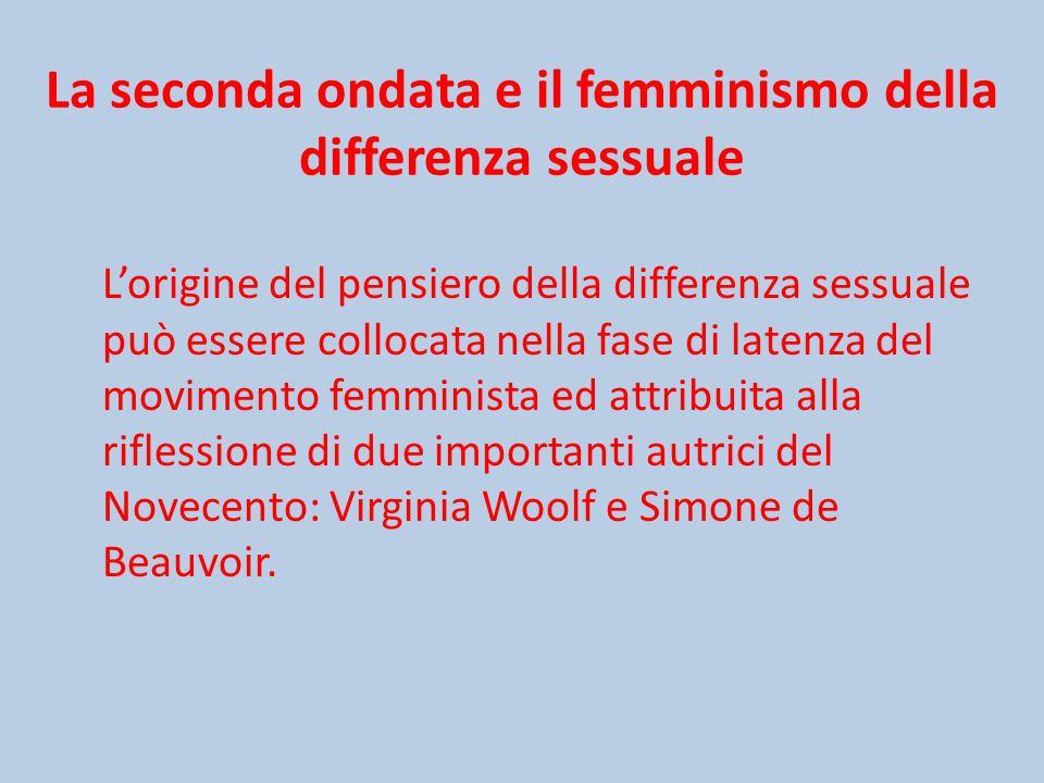 La seconda ondata e il femminismo della differenza sessuale