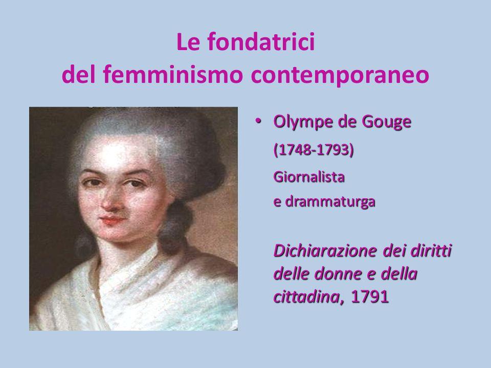 Le fondatrici del femminismo contemporaneo