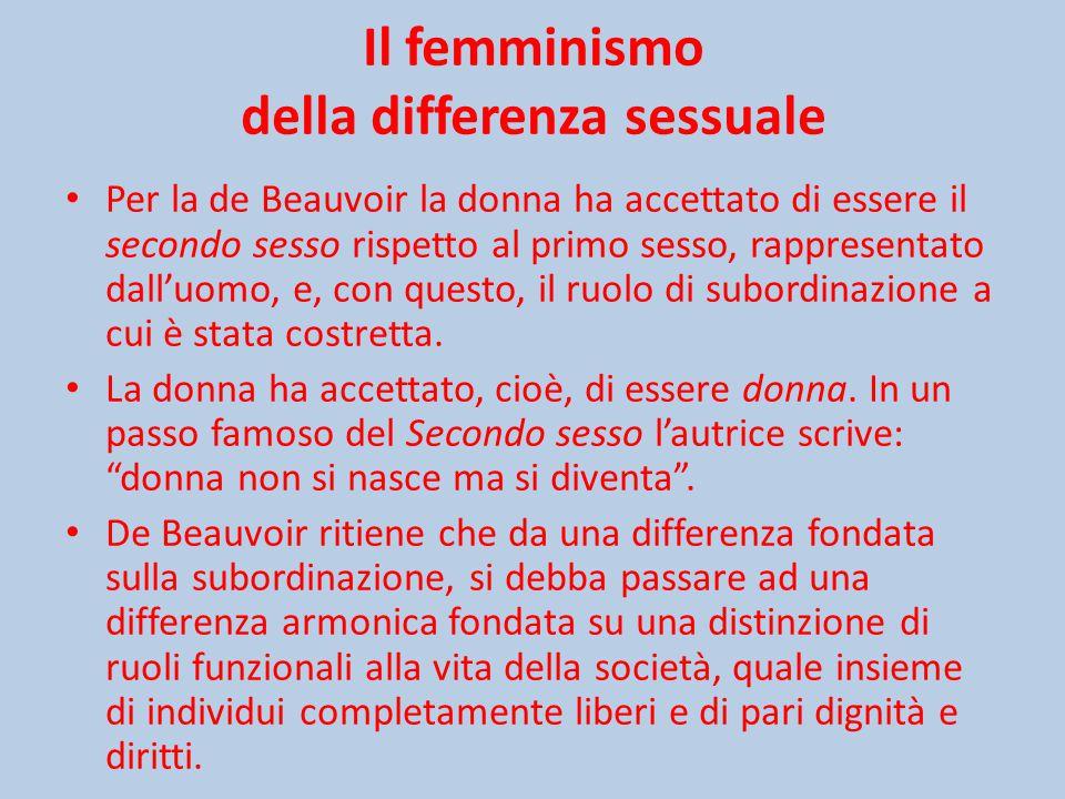 Il femminismo della differenza sessuale