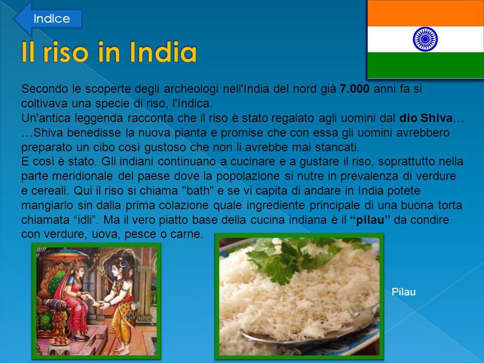Indice Il riso in India.