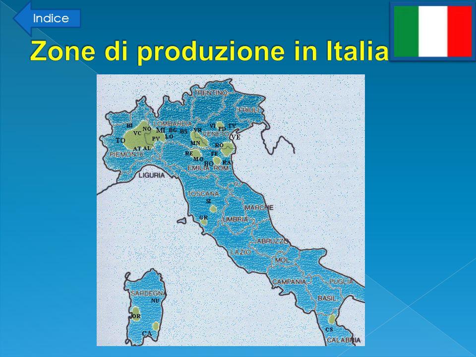 Zone di produzione in Italia