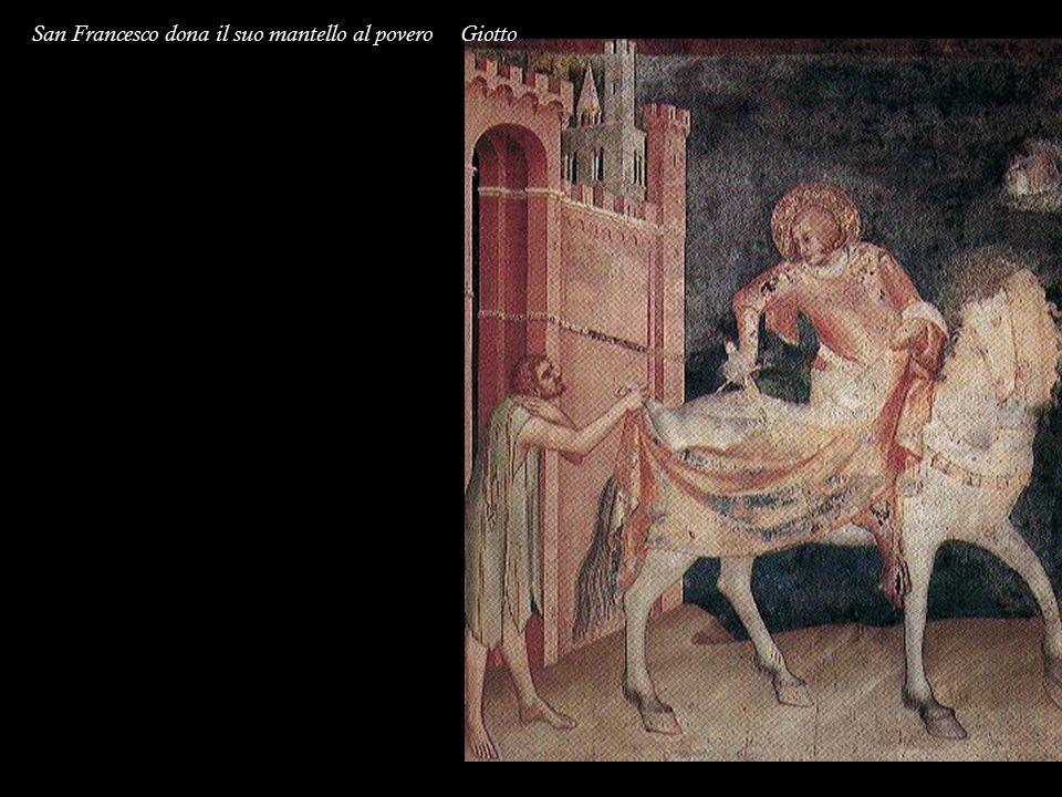 San Francesco dona il suo mantello al povero Giotto