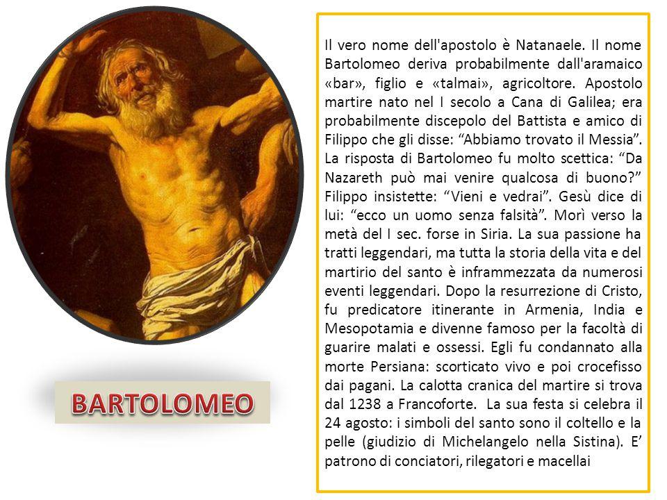 Il vero nome dell apostolo è Natanaele