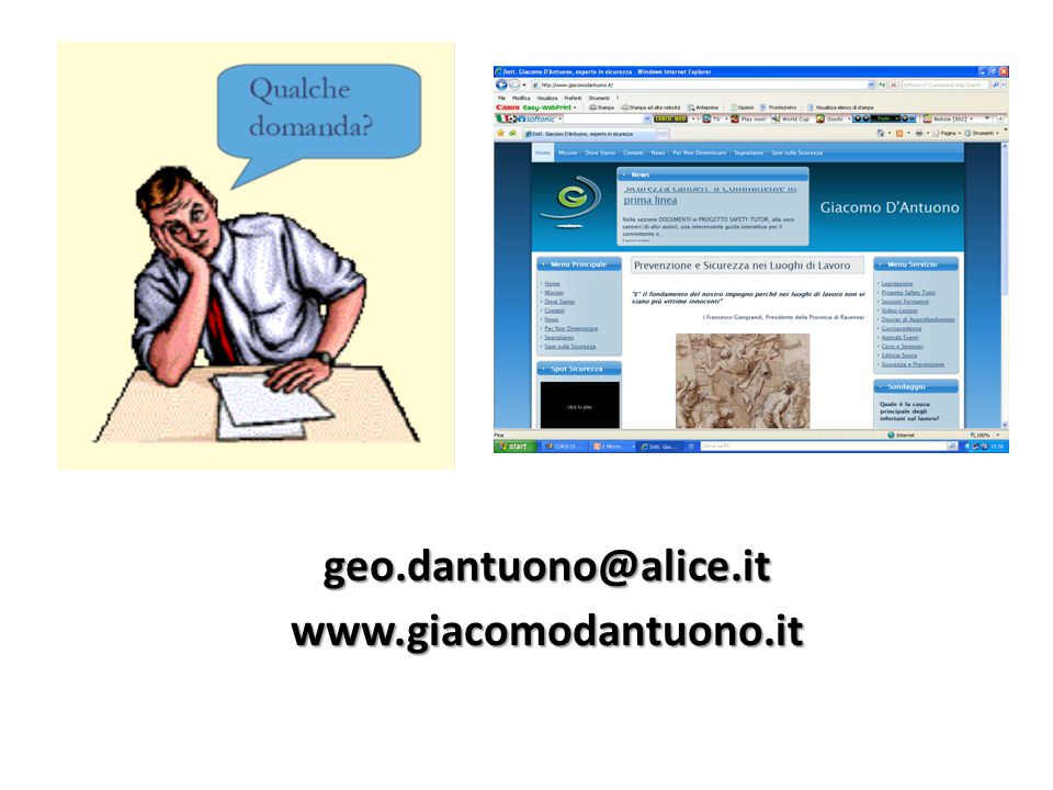 geo.dantuono@alice.it www.giacomodantuono.it