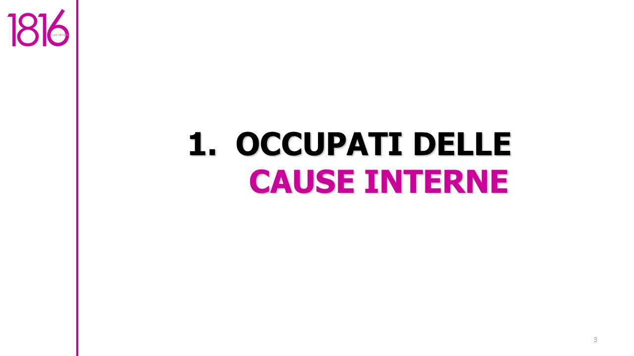 1. OCCUPATI DELLE CAUSE INTERNE