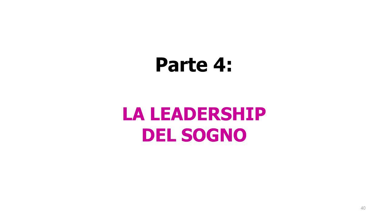 Parte 4: LA LEADERSHIP DEL SOGNO