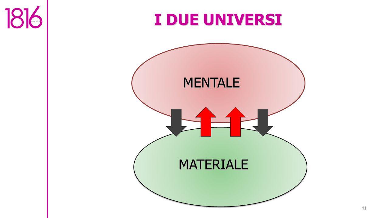 I DUE UNIVERSI MENTALE MATERIALE
