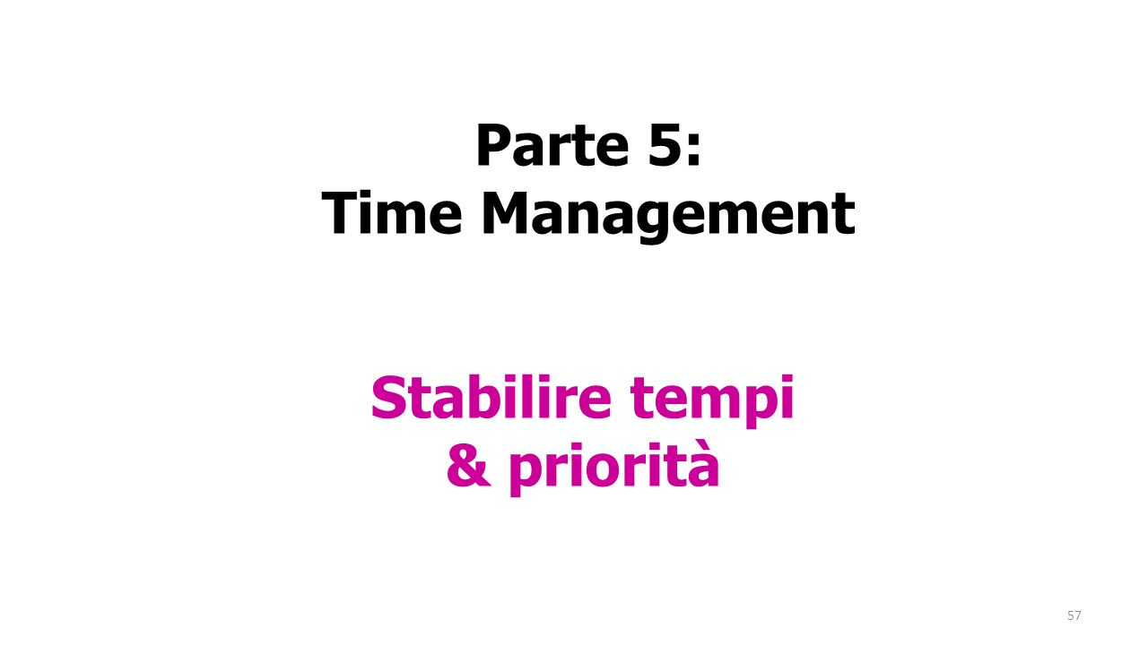 Parte 5: Time Management
