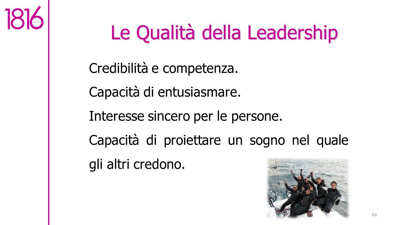 Le Qualità della Leadership