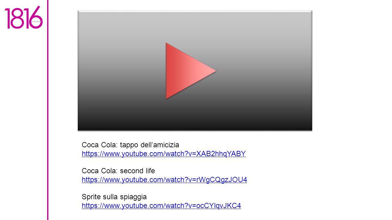 Coca Cola: tappo dell'amicizia