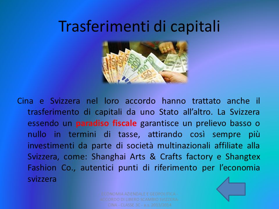 Trasferimenti di capitali
