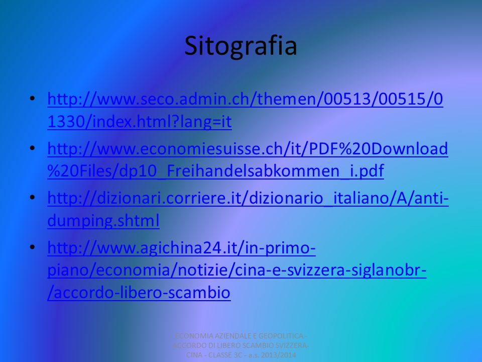 Sitografia http://www.seco.admin.ch/themen/00513/00515/01330/index.html lang=it.