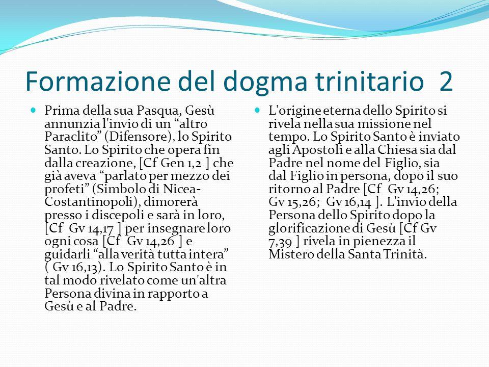 Formazione del dogma trinitario 2