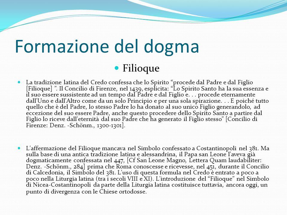 Formazione del dogma Filioque