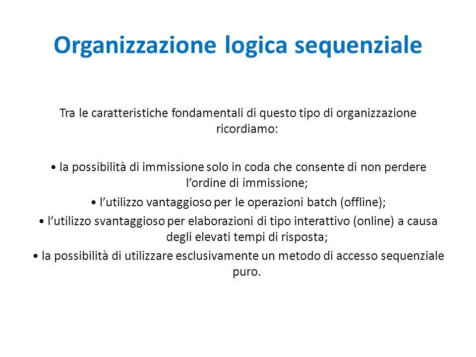 Organizzazione logica sequenziale