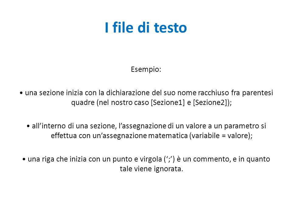 I file di testo