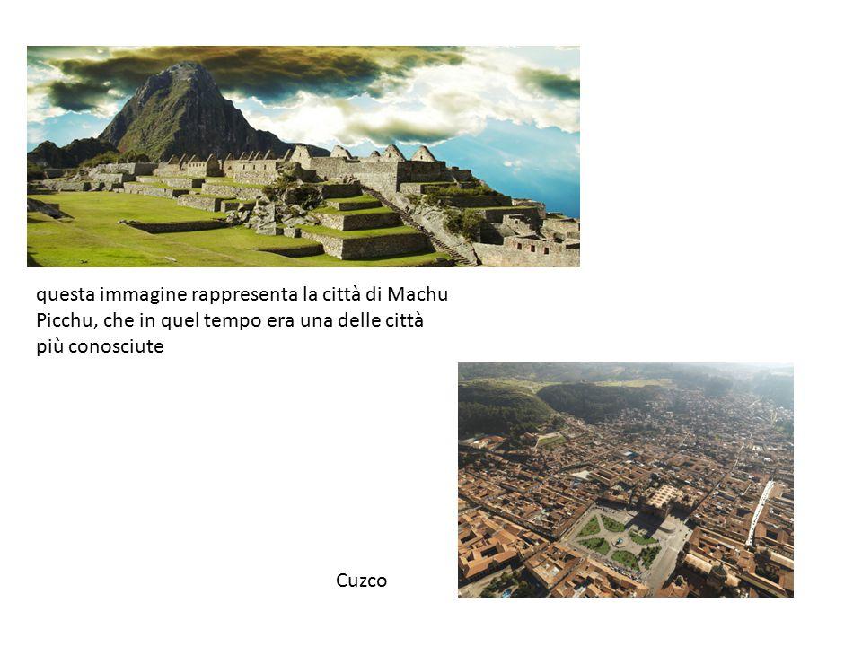 questa immagine rappresenta la città di Machu Picchu, che in quel tempo era una delle città più conosciute
