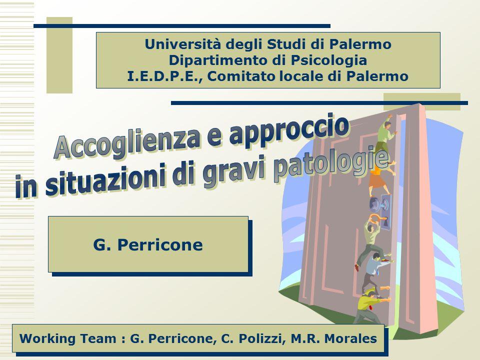 Accoglienza e approccio in situazioni di gravi patologie