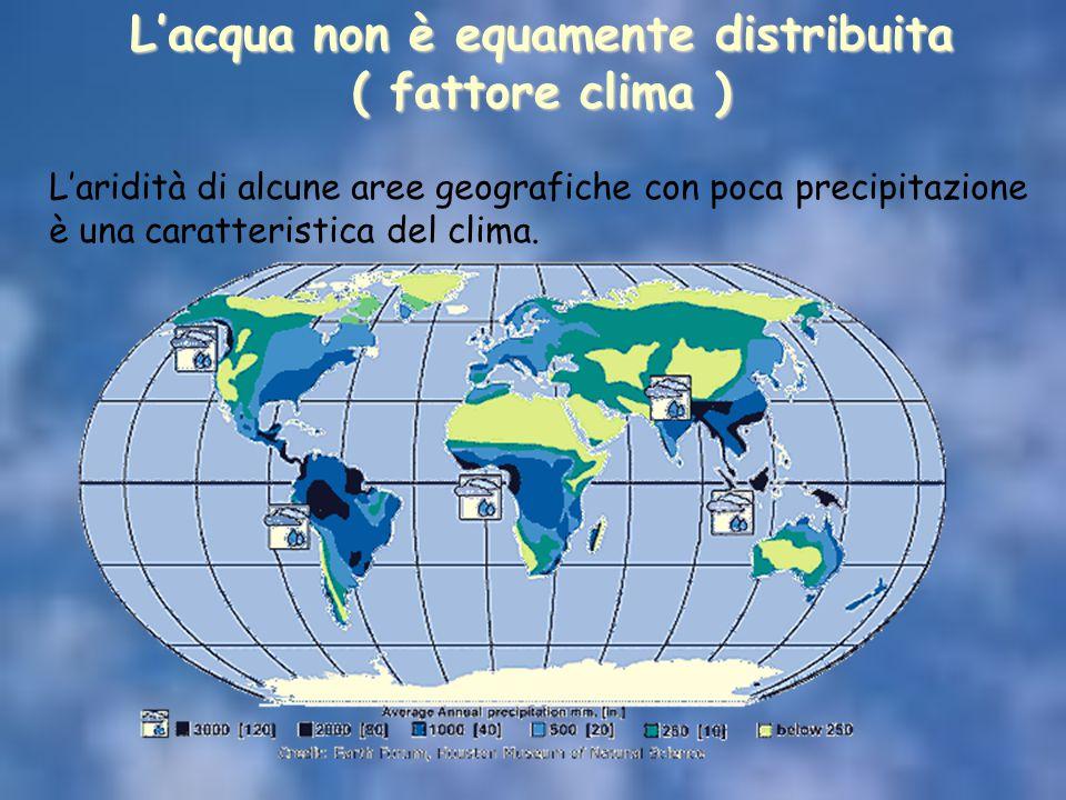 L'acqua non è equamente distribuita