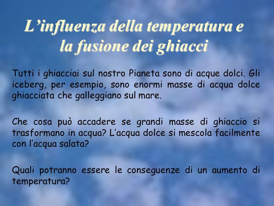 L'influenza della temperatura e la fusione dei ghiacci