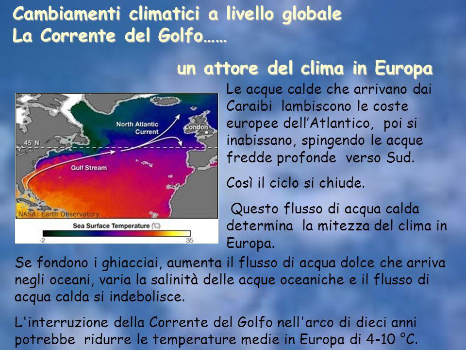 Cambiamenti climatici a livello globale La Corrente del Golfo……