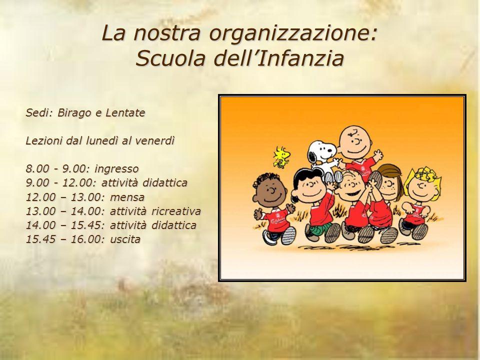 La nostra organizzazione: Scuola dell'Infanzia