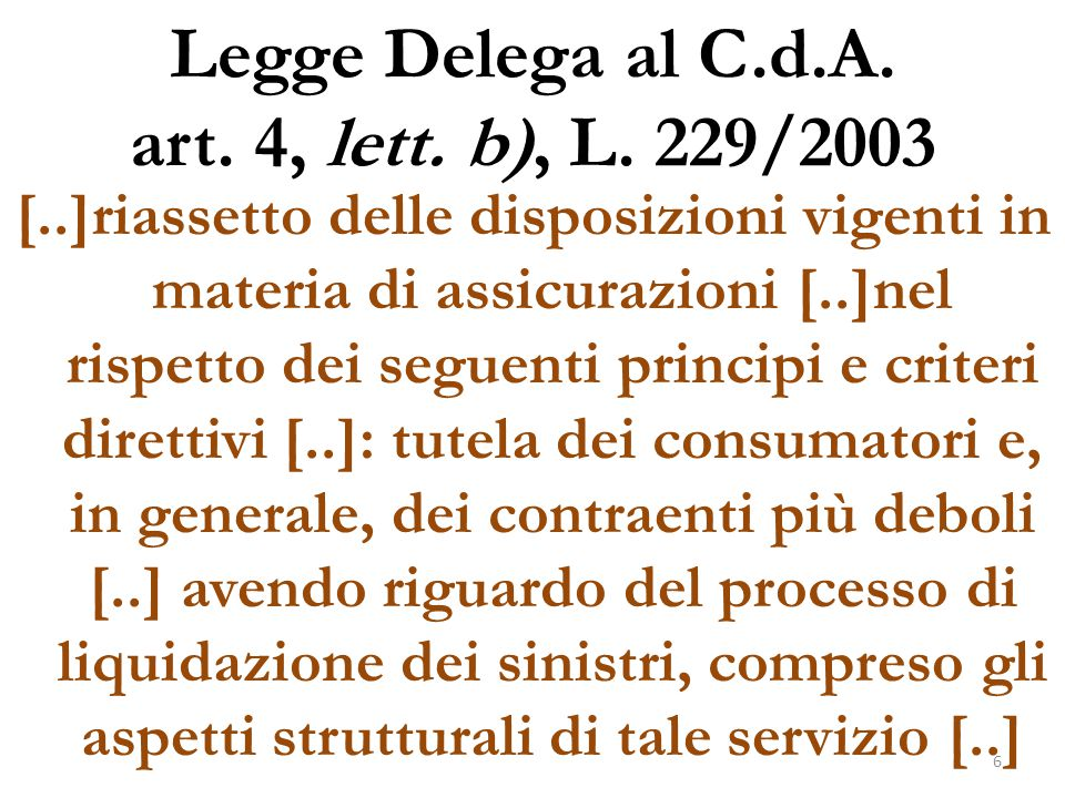 Legge Delega al C.d.A. art. 4, lett. b), L. 229/2003
