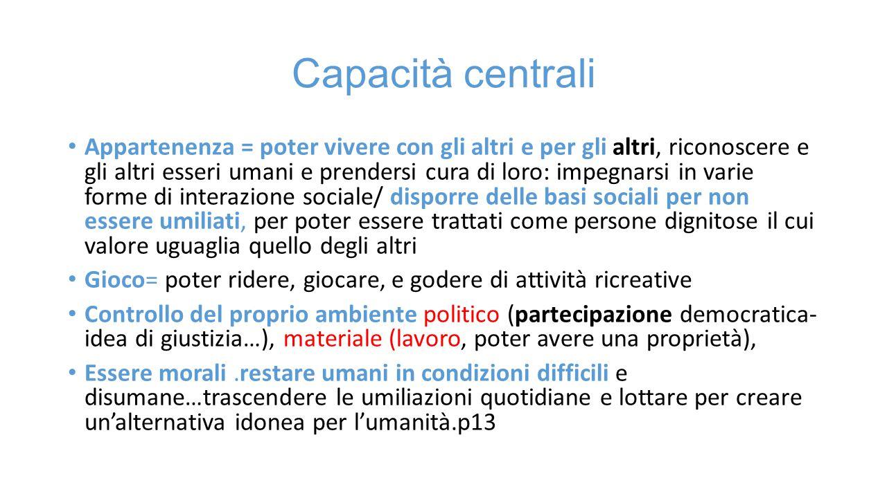 Capacità centrali