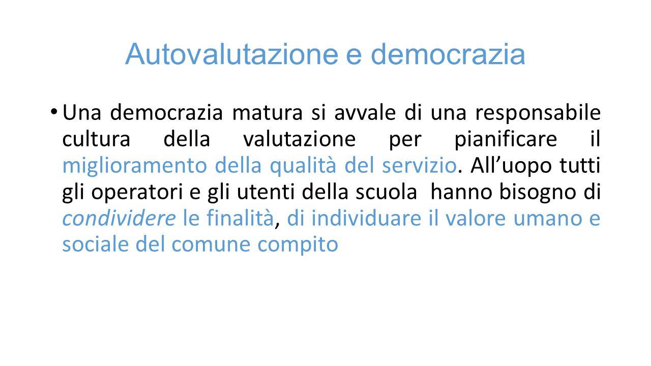 Autovalutazione e democrazia