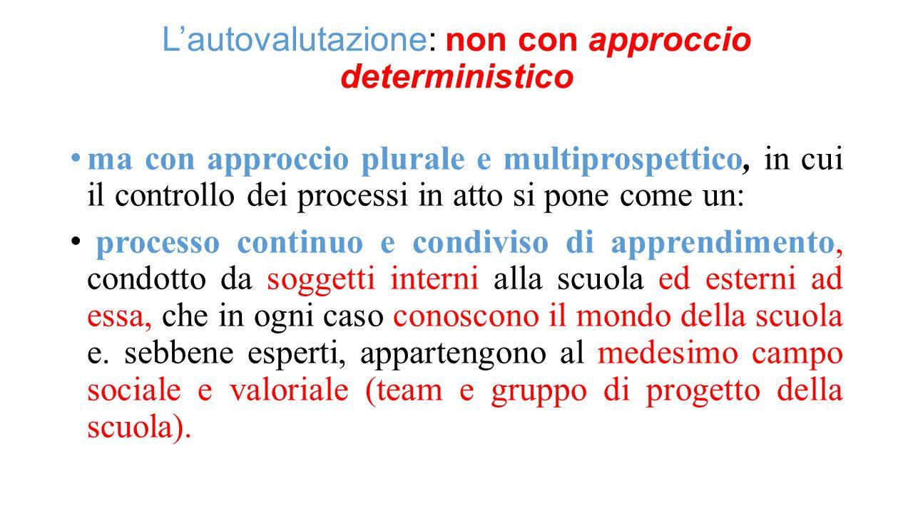 L'autovalutazione: non con approccio deterministico