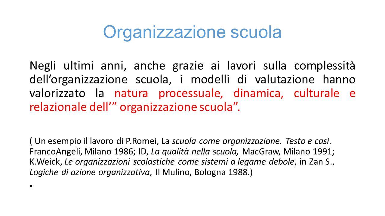 Organizzazione scuola